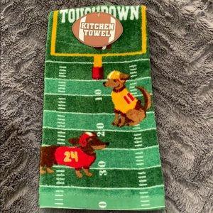 New Doggy Touchdown Kitchen Towel